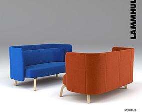 lammhults portus easy chair 3D model