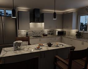 Cozy Reno Country Kitchen Interior 3D model