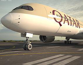 3D Airbus A350-900