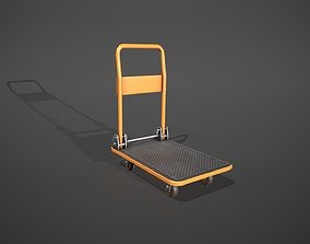 3D model Folding Platform Truck - Trolley - Orange