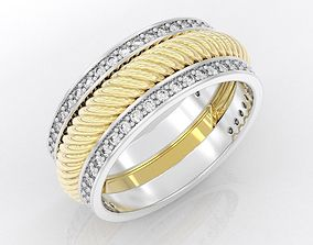 3D print model Engagement Ring with Rope and Diamonds 409