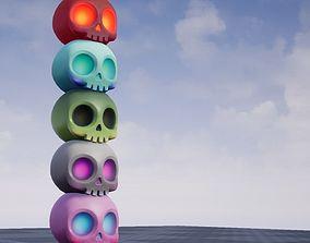 Cute Skull 3D asset