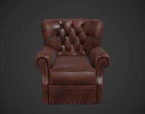 3D asset game-ready PBR Armchair