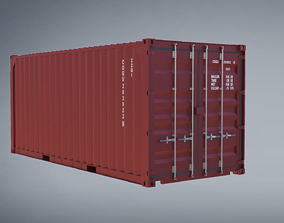 20ft Container 3D model 10ft