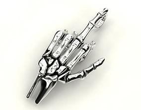 3D printable model Human hand bones pendant