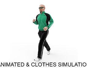 Sports man jog 3D