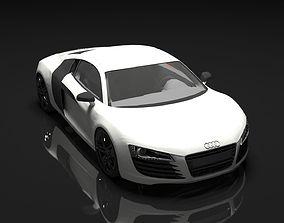 3D model Audi R8 white