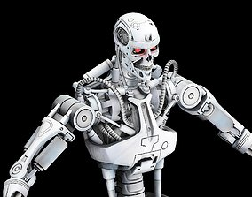 T-800 terminator 3d model game-ready