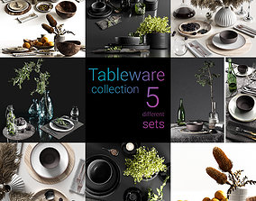 modern Tableware collection 3D
