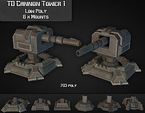 TD Cannon Tower 01 3D model