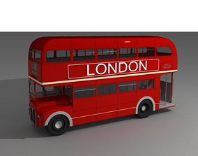 3D model London Bus buss