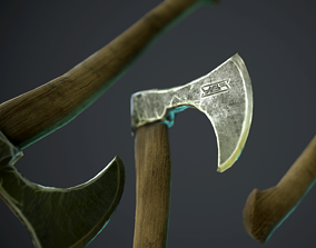 ax with ornament 3D model