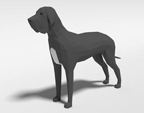 3D asset Low Poly Cartoon Great Dane Dog
