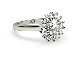 3D print model Floral Inspire Diomand Ring