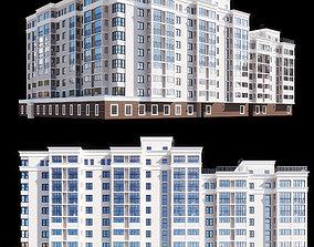 3D City House Building architectural
