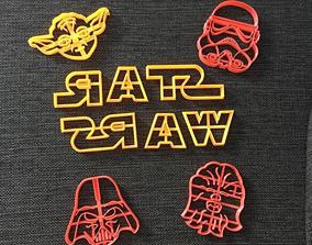 3D printable model Starwars Pack x 7 Cookie Cutter