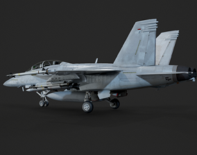 USA Navy FA-18F Block 3 Super Hornet Strike 3D model