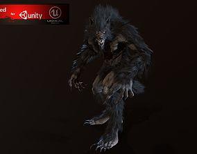 Werewolf 3D asset animated