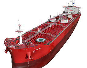 Oil Products Tanker red 3D