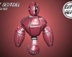 3D asset Retro Robot Sentinel -- Game Ready Player or AI