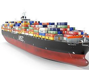 Container ship 300m 3D model