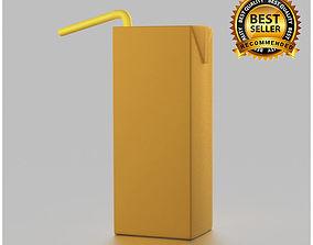 Tetra pak juice pack 3D model