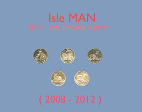Cat coin - set model 5 of isle Man 3D