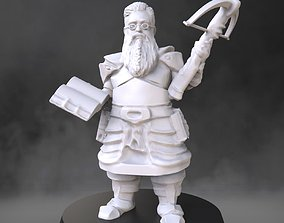 Dwarf cleric with crossbow 3D printable model