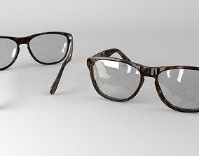 realistics glasses 3d model accessory
