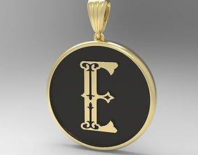 3D printable model golden Alphabet Latin E