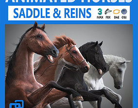 animated Animated Horses 3DS Max