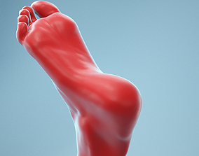 3D Twisted Pose Realistic Foot Model 02