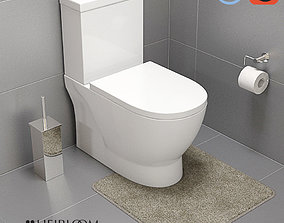 3D model Studio 1 Wall Faced Toilet Suite