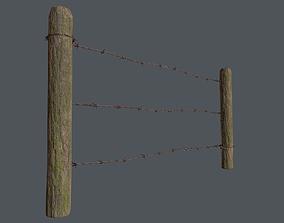 Wood Fence 02 3D model VR / AR ready
