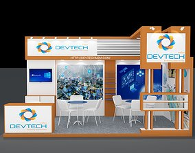 3D interior Exhibition stall