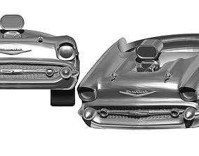 USA Calssic Car Front Hood Detailed Ring 3D print model