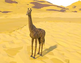 3D asset African Giraffe
