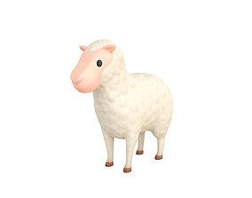Cartoon Sheep 3D model merino