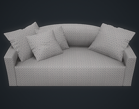 3D model Polifirm Atollo Sofa Small Lynwood Ice Blue