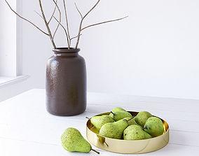 3D model Decor Set Pear Bowl minimalistic