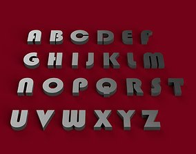 BAUHAUS93 font uppercase and lowercase 3D letters STL