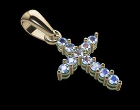 Small Diamond Cross With Bell 3D print model
