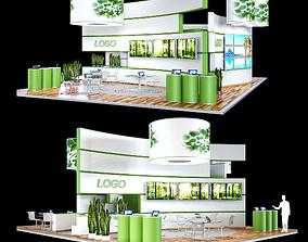 kiosk 3D model Exhibition stand