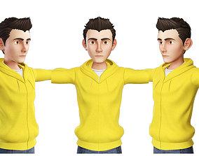 Teens Boy Yellow 3D model