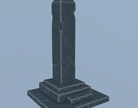 Stylized obelisk 3D asset