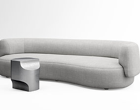 Christophe Delcourt Fao sofa and Ope side table 3D