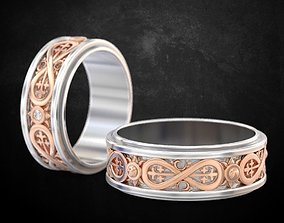Wedding rings for lovers 168 3D printable model