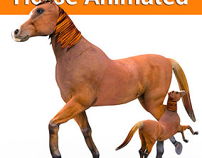 3D model Red Horse Animated