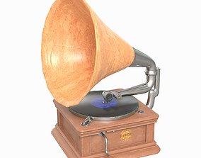 Gramophone 3D asset game-ready PBR