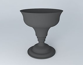 black Flower pot 3D